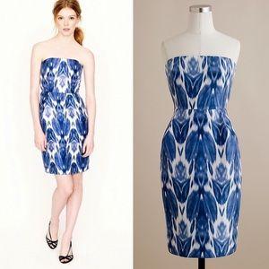 J Crew Collection Ikat Silk Dress
